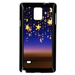 Christmas Background Star Curtain Samsung Galaxy Note 4 Case (black) by Celenk