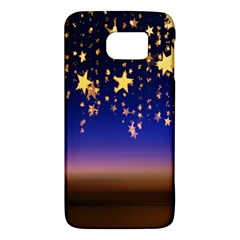 Christmas Background Star Curtain Galaxy S6 by Celenk