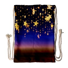 Christmas Background Star Curtain Drawstring Bag (large) by Celenk