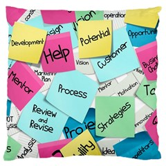 Stickies Post It List Business Large Cushion Case (one Side) by Celenk