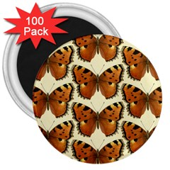 Butterfly Butterflies Insects 3  Magnets (100 Pack) by Celenk