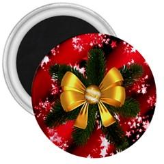 Christmas Star Winter Celebration 3  Magnets by Celenk