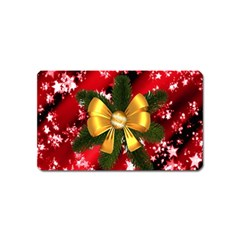 Christmas Star Winter Celebration Magnet (name Card) by Celenk
