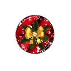 Christmas Star Winter Celebration Hat Clip Ball Marker (4 Pack) by Celenk