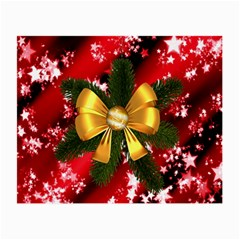 Christmas Star Winter Celebration Small Glasses Cloth (2 Side) by Celenk