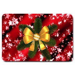 Christmas Star Winter Celebration Large Doormat  by Celenk