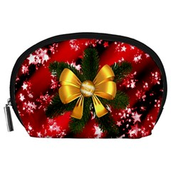 Christmas Star Winter Celebration Accessory Pouches (large)  by Celenk