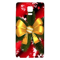 Christmas Star Winter Celebration Galaxy Note 4 Back Case by Celenk