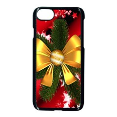 Christmas Star Winter Celebration Apple Iphone 7 Seamless Case (black) by Celenk