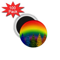 Christmas Colorful Rainbow Colors 1 75  Magnets (100 Pack)  by Celenk
