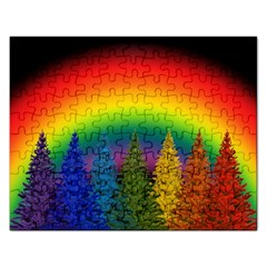 Christmas Colorful Rainbow Colors Rectangular Jigsaw Puzzl by Celenk
