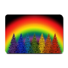 Christmas Colorful Rainbow Colors Small Doormat  by Celenk