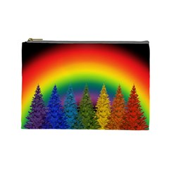 Christmas Colorful Rainbow Colors Cosmetic Bag (large)  by Celenk