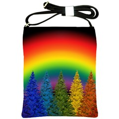 Christmas Colorful Rainbow Colors Shoulder Sling Bags by Celenk