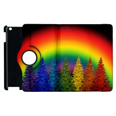 Christmas Colorful Rainbow Colors Apple Ipad 3/4 Flip 360 Case by Celenk