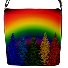 Christmas Colorful Rainbow Colors Flap Messenger Bag (s) by Celenk