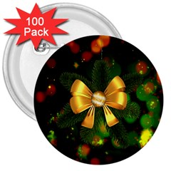 Christmas Celebration Tannenzweig 3  Buttons (100 Pack)  by Celenk