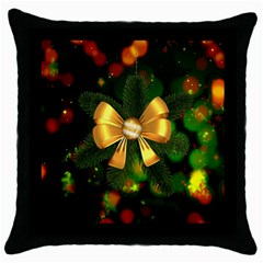 Christmas Celebration Tannenzweig Throw Pillow Case (black) by Celenk