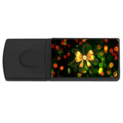 Christmas Celebration Tannenzweig Rectangular Usb Flash Drive by Celenk