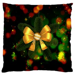 Christmas Celebration Tannenzweig Large Cushion Case (two Sides) by Celenk