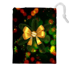 Christmas Celebration Tannenzweig Drawstring Pouches (xxl) by Celenk