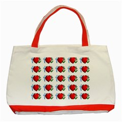 Cross Heart Anchor Love Hope Classic Tote Bag (red) by Celenk