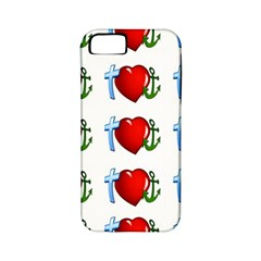 Cross Heart Anchor Love Hope Apple Iphone 5 Classic Hardshell Case (pc+silicone) by Celenk