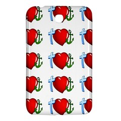 Cross Heart Anchor Love Hope Samsung Galaxy Tab 3 (7 ) P3200 Hardshell Case  by Celenk