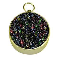 Universe Star Planet All Colorful Gold Compasses by Celenk
