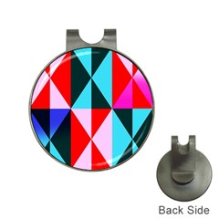 Geometric Pattern Hat Clips With Golf Markers by Celenk