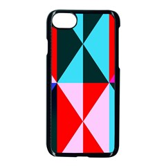 Geometric Pattern Apple Iphone 7 Seamless Case (black)