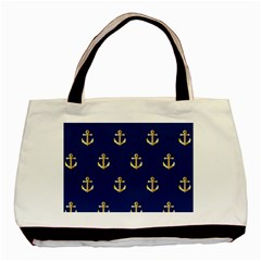Gold Anchors Background Basic Tote Bag by Celenk