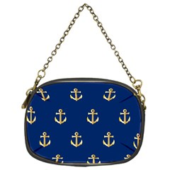 Gold Anchors Background Chain Purses (one Side)  by Celenk