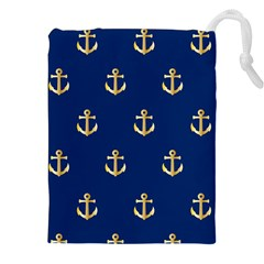 Gold Anchors Background Drawstring Pouches (xxl) by Celenk