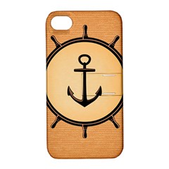 Nautical Anchor Marine Ocean Sea Apple Iphone 4/4s Hardshell Case With Stand by Celenk