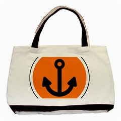 Anchor Keeper Sailing Boat Basic Tote Bag by Celenk