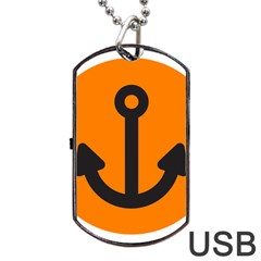 Anchor Keeper Sailing Boat Dog Tag Usb Flash (two Sides) by Celenk