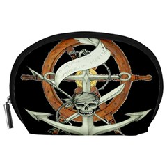 Anchor Seaman Sailor Maritime Ship Accessory Pouches (large)  by Celenk