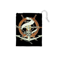 Anchor Seaman Sailor Maritime Ship Drawstring Pouches (small)  by Celenk
