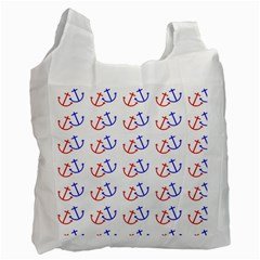 Anchors Nautical Backdrop Sea Nautical Recycle Bag (two Side)  by Celenk