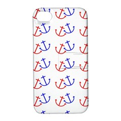 Anchors Nautical Backdrop Sea Nautical Apple Iphone 4/4s Hardshell Case With Stand by Celenk