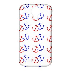 Anchors Nautical Backdrop Sea Nautical Samsung Galaxy S4 Classic Hardshell Case (pc+silicone) by Celenk