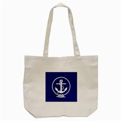 Anchor Flag Blue Background Tote Bag (cream) by Celenk