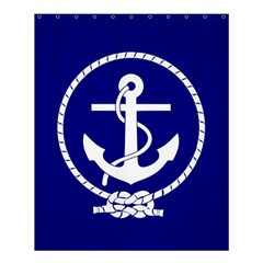 Anchor Flag Blue Background Shower Curtain 60  X 72  (medium)  by Celenk