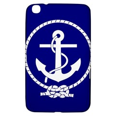 Anchor Flag Blue Background Samsung Galaxy Tab 3 (8 ) T3100 Hardshell Case