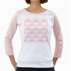 Pattern Cat Pink Cute Sweet Fur Girly Raglans