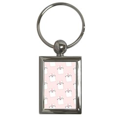 Pattern Cat Pink Cute Sweet Fur Key Chains (Rectangle)