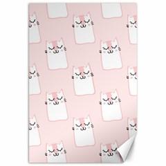 Pattern Cat Pink Cute Sweet Fur Canvas 20  x 30
