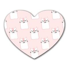 Pattern Cat Pink Cute Sweet Fur Heart Mousepads by Celenk