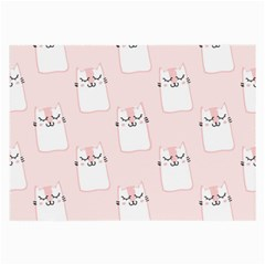 Pattern Cat Pink Cute Sweet Fur Large Glasses Cloth by Celenk